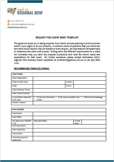 Client Brief Template